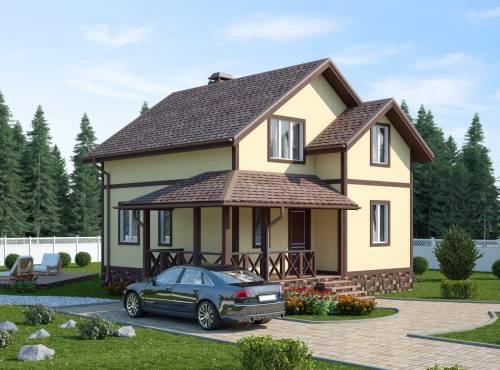 Проект дома из СИП панелей ВОЛХОВ