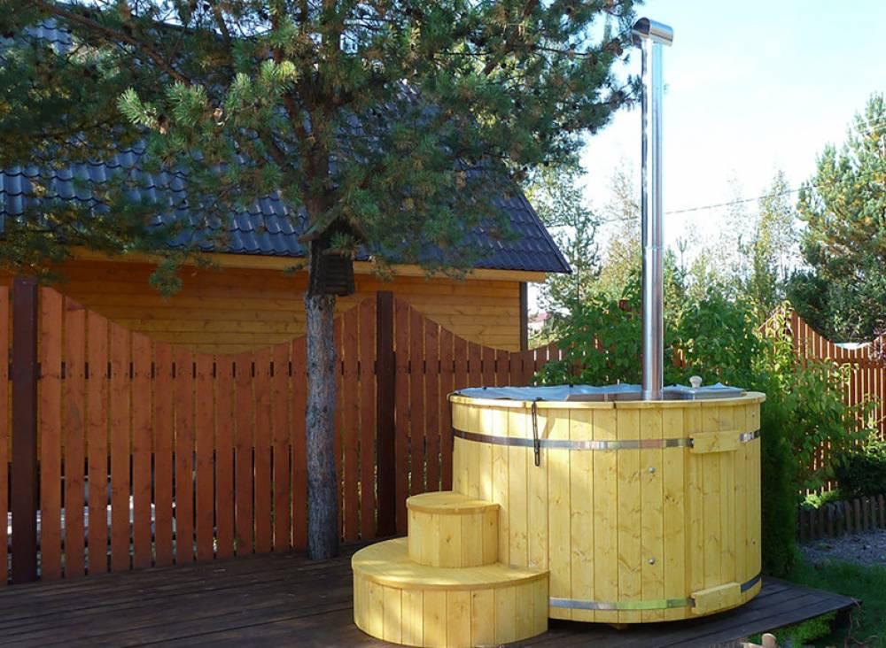 Купель Ø 2.0 Лиственница (с печью)