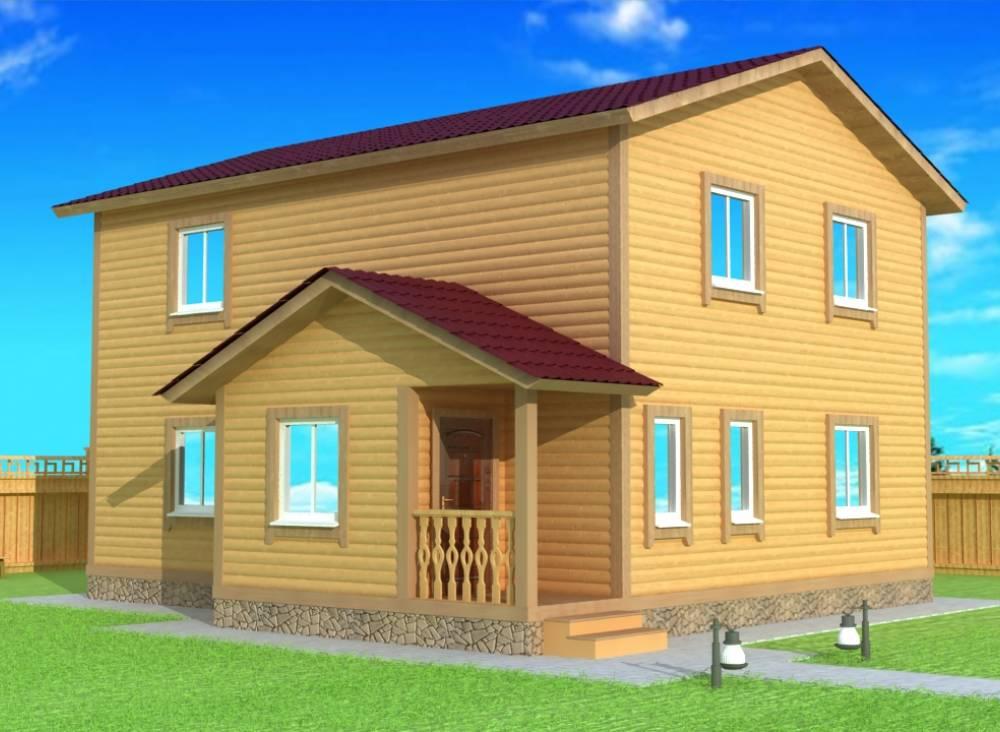 Каркасный дом 8,5х9