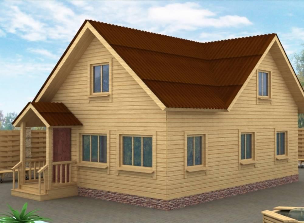 Дачный дом 6х9 с крыльцом