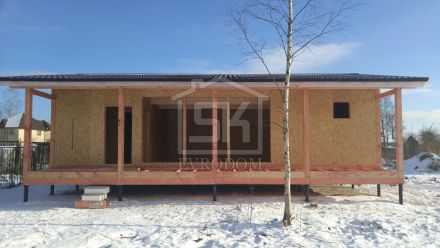 Строительство Дома- Бани из СИП панелей в Усть -Ижоре Ленинградской области.