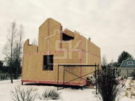 Монтаж стен из СИП панелей второй этаж